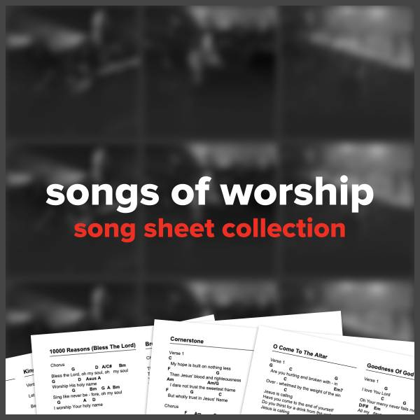 Songs Of Worship (Song Sheet Collection)