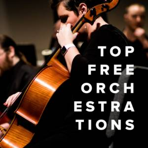 Sheet Music, chords, & multitracks for Top Free Orchestrations for Worship