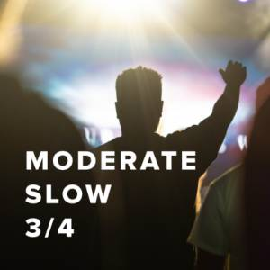 Sheet Music, chords, & multitracks for Moderate Slow Worship Songs in 3/4