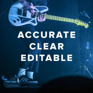 Accurate, Clear & Editable Chord Charts
