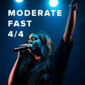 Sheet Music, chords, & multitracks for Moderate Fast Worship Songs in 4/4